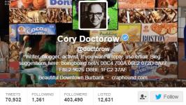 Cory Doctorow Twitter Bio