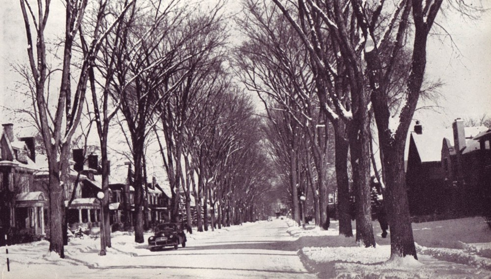 Clemow Avenue in late 1940s (1/2)