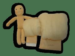 Babacsomag gyapjú töltéssel, 25 cm-es babához