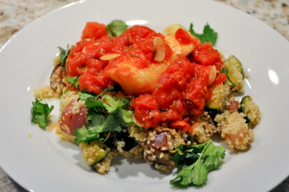 Cod with Lemon Zucchini Couscous