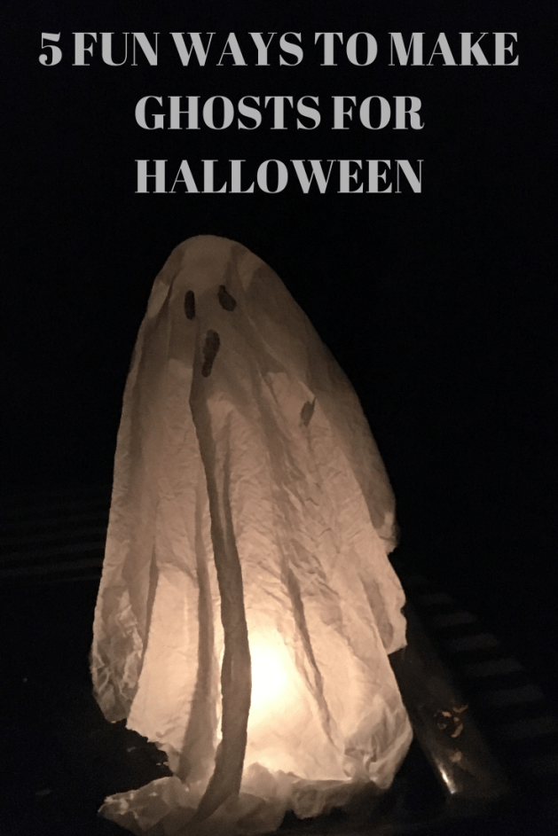 make ghosts for Halloween picture