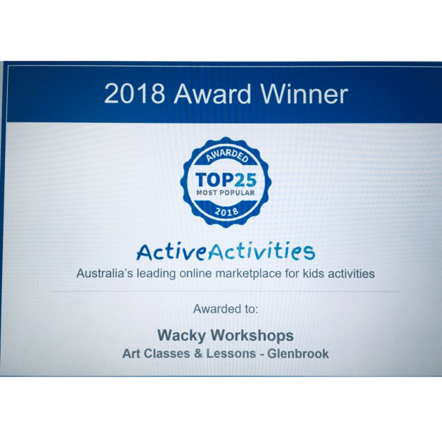 wacky workshops most popular certificate picture