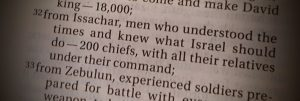 """1 Chronicles 12:32 - they """"understood the times"""""""