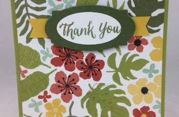 Stampin' on Botanical Gardens DSP