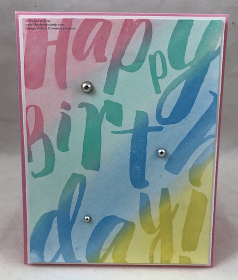 BDay Wall, PanPastels, glendasblog, Fun Stampers Journey