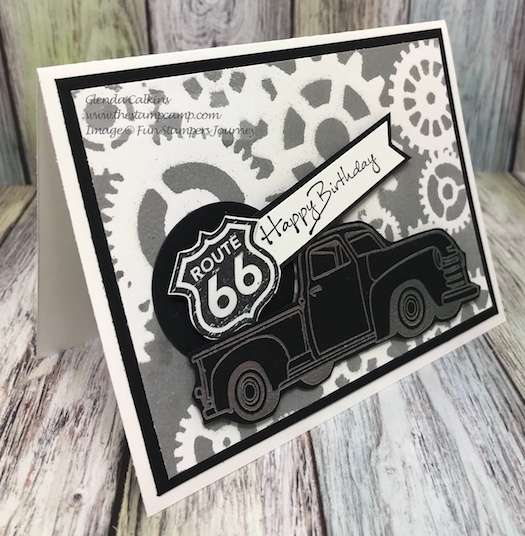 Hit the Road, Stencils, Fun Stampers Journey, thestampcamp
