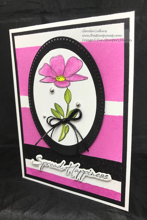 Color Splashes, Fun Stampers Journey, Spread Happiness, thestampcamp