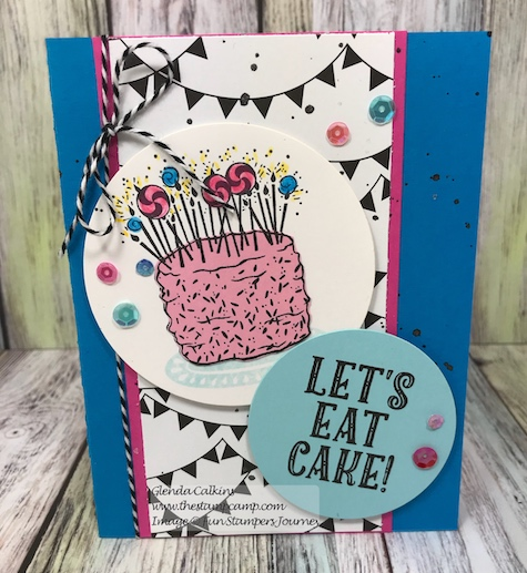 Let's Eat Cake, Fun Stampers Journey, glendasblog, the stampcamp