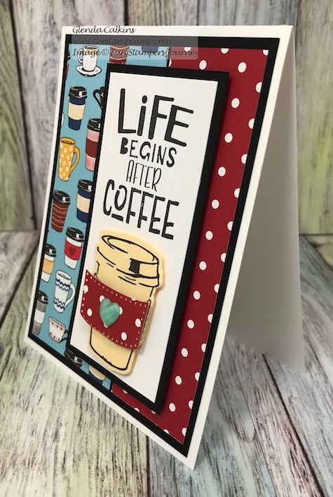 Coffee Helps Bundle, Fun Stampers Journey, glendasblog, thestampcamp