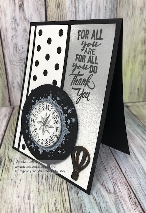 Compass Rose, Lots of Dots, Fun Stampers Journey, glendasblog