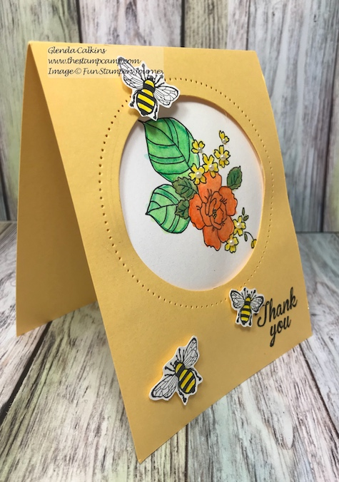 Summer Garden, Fun Stampers Journey, glendasblog, the stamp camp