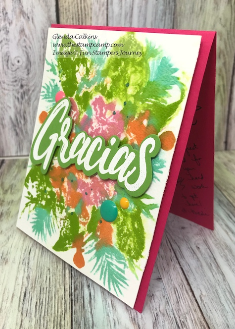 Gracias, Tropical Beauty, Fun Stampers Journey, the stamp camp