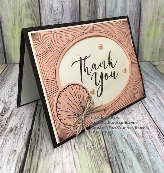 Beach Treasures, Modern Frame, Fun Stampers Journey, glendasblog, the stamp camp