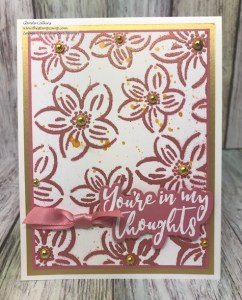 FSJ Flower Power Stencil and New Rustic Rose Color Splash!