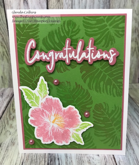Wallpaper Stencil, In the Tropics, Fun Stampers Journey, glendasblog