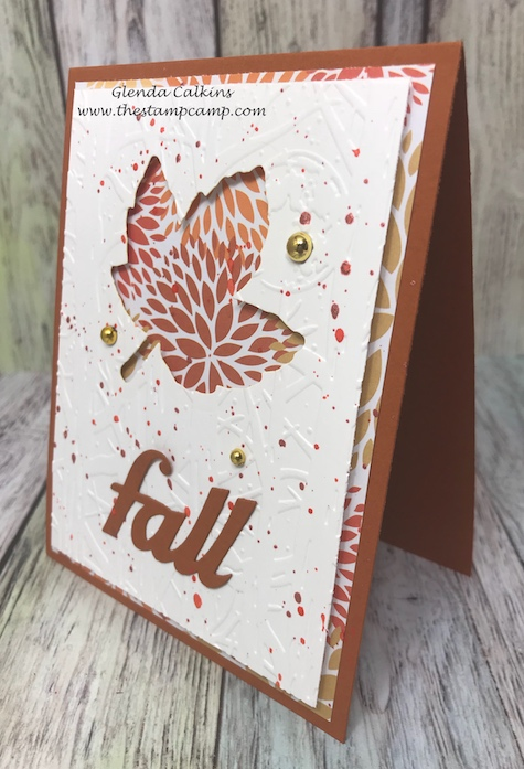 Autumn Days dies, Fun Stampers Journey, glendasblog, the stamp camp
