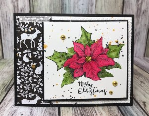 Christmas Sprig with Cozy Prints from Fun Stampers Journey by Glenda Calkins
