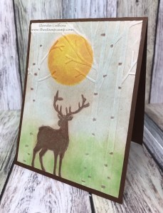 This is the Deer in the Forest embossing folder perfect for the Deer Hunters in your life. This makes the perfect Birthday card, Congrats you got your buck card; perfect for those masculine cards. Supplies can be purchased on my blog: www.thestampcamp.com click on the affiliated links at the top. #masculine, #deer, #Sizzix, #thestampcamp