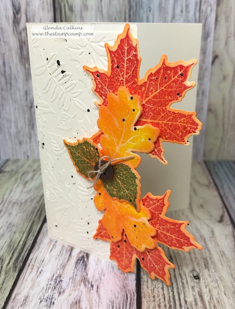 Hello Fall, Changing Seasons, FSJ, the stamp camp, glendasblog, papercrafting, rubberstamping, Fall, #fallleaves