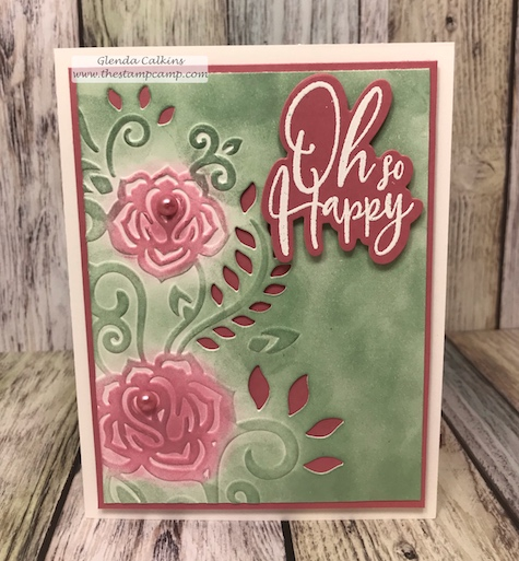 This is the Rose Flourish Cut & Emboss folder from Spellbinders. I love this folder because it adds so much elegance to my cards with the Cut and Emboss feature. If you love to create quick and easy cards you will love these folders. #thestampcamp, #embossing, #papercrafts, #rubberstamping, #spellbinders