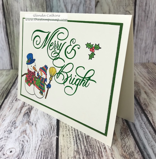 Hot Foil Glimmer machine from Spellbinders creates a fun shiny inlaid embossed technique.  So fun!  I paired it with the Snowmen Days stamp set from Fun Stampers Journey.  Available here: shop.thestampcamp.com #spellbinders, #fsj, #thestampcamp, #christmascards
