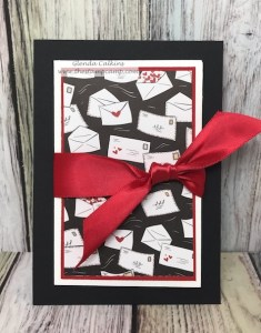 The Follow Your Heart prints from Fun Stampers Journey has all the fun prints you will need for your Valentine's. This print with the envelopes works perfect for this Envelope Gift Card Holder. #fsj, #thestampcamp #valentine #giftcardholder