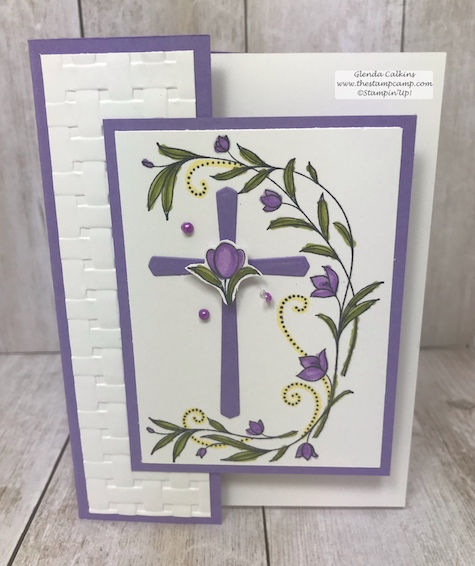 His Grace and the Cross of Hope framelits pair well together and is my featured stamp set for March.  Details on my blog: www.thestampcamp.com #stampinup #thestampcamp #Easter #cards