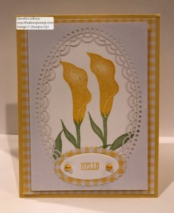 Lasting Lily in Daffodil Delight Gingham