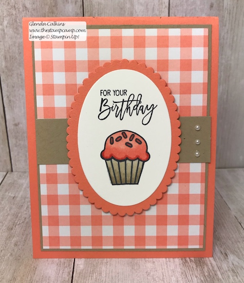 This adorable cupcake card is a birthday card and gift card holder all in one.  Details on my blog: www.thestampcamp.com #giftcardholder, #stampinup #thestampcamp #handmade