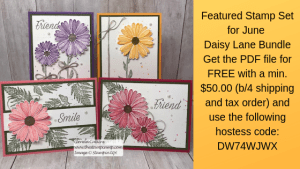 Featured Stamp Set for June is the Daisy Lane Bundle