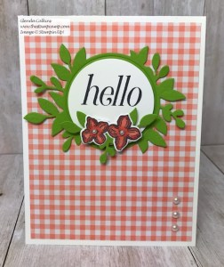 Hello Card with the Floral Frames Stamp Set