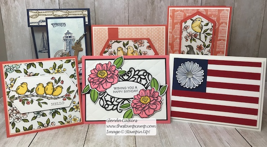 This is this week's cards going out in my weekly card giveaway. Visit my blog for the details: https://wp.me/p59VWq-acU #stampinup #thestampcamp #weeklygiveaway #cards #stamps