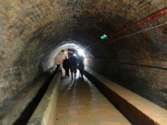 the underground passage and beer store
