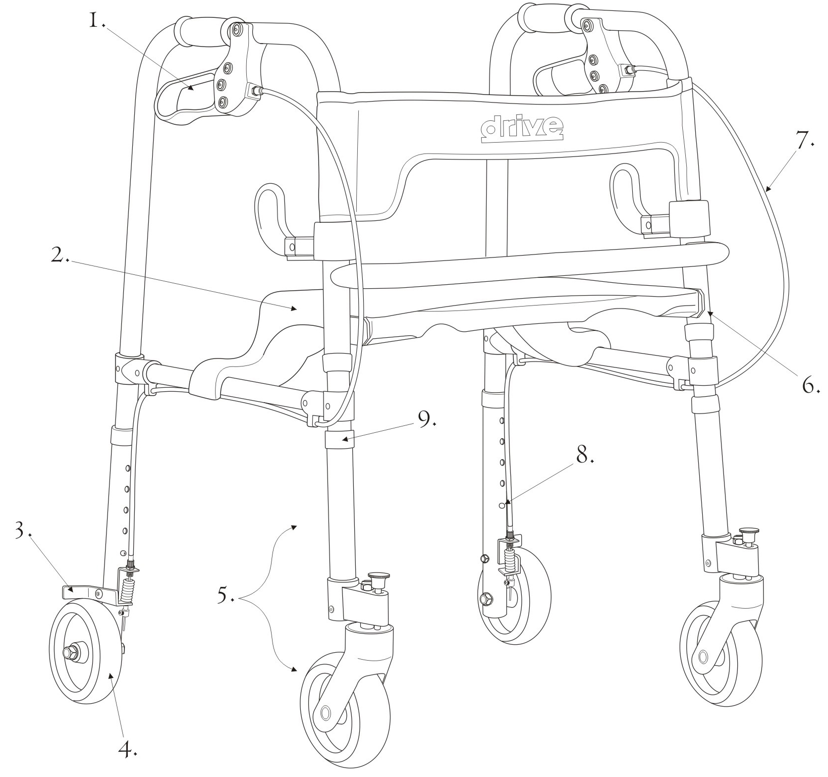 Clever Lite Walker Adult With 5 Casters