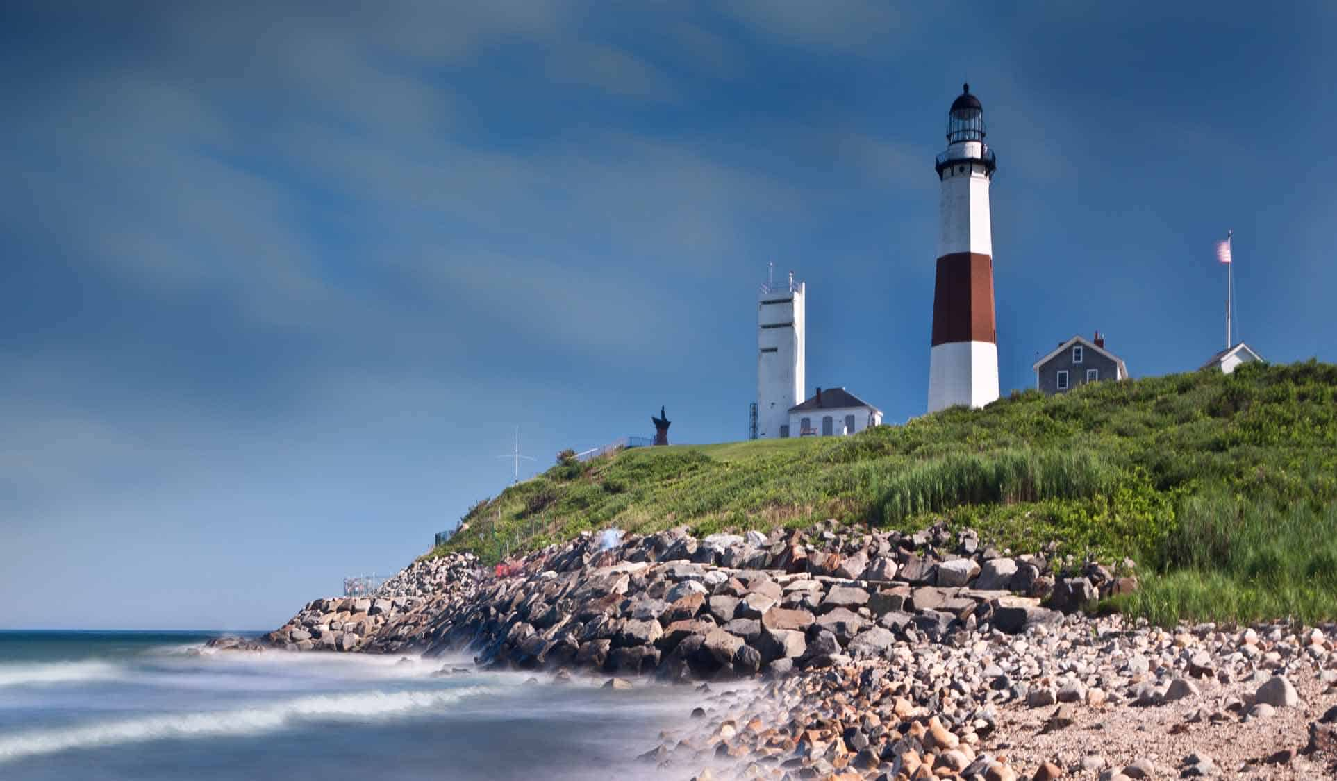 Montauk Point Lighthouse in Long Island, NY