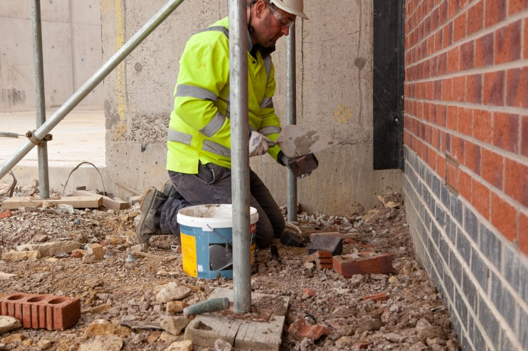 Construction Site Photography - Bricklayer