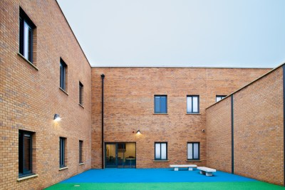 Mental Health Care Home Secure Courtyard