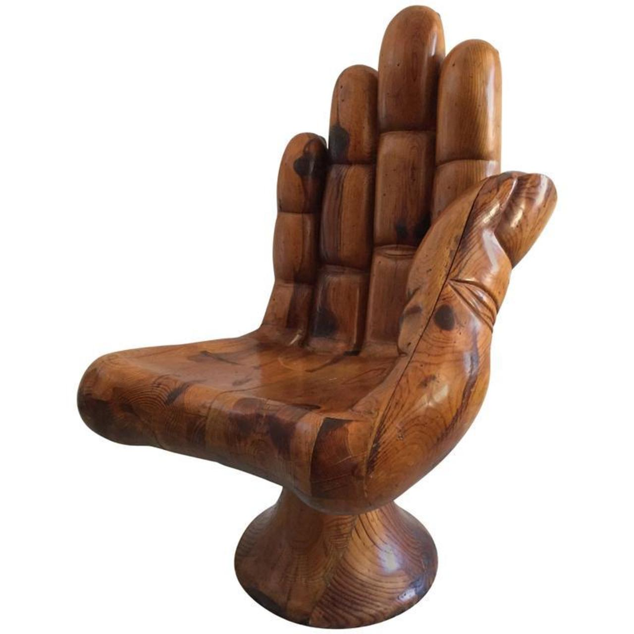 wood hand chair outside cushions sales pedro friedeberg style carved glen leroux antiques
