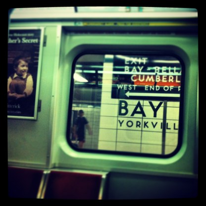 Falling in love with a whole new set of subway stops. 6 Jul 2013.