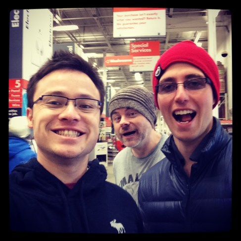 TIm photo-bombing our daily selfie.