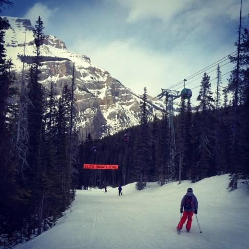 Ski out. Sunshine Village, Banff.