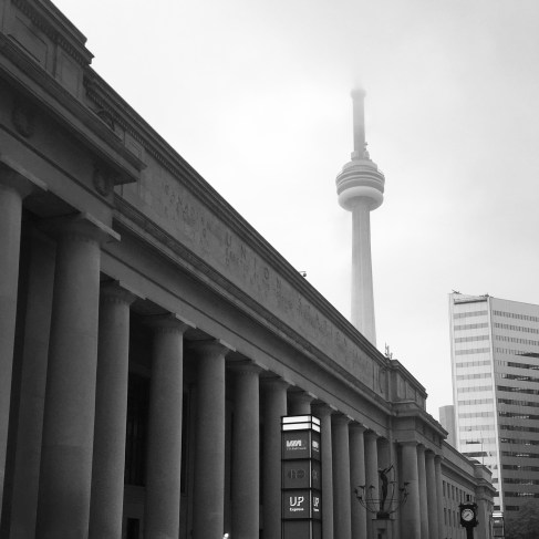 Union Station and CN Tower, Toronto.
