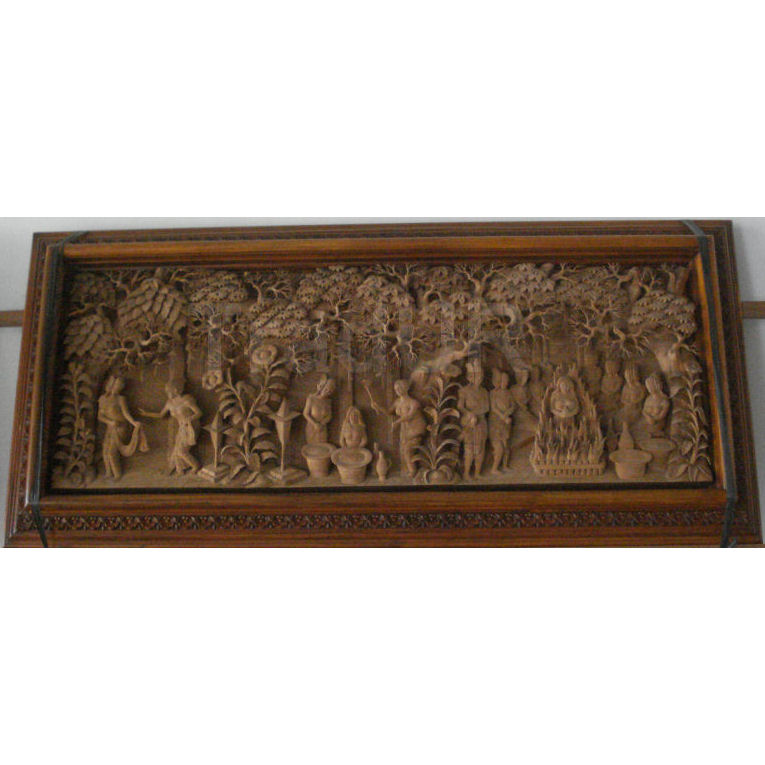 Balinese wood relief carvings indonesian hand carved wall art