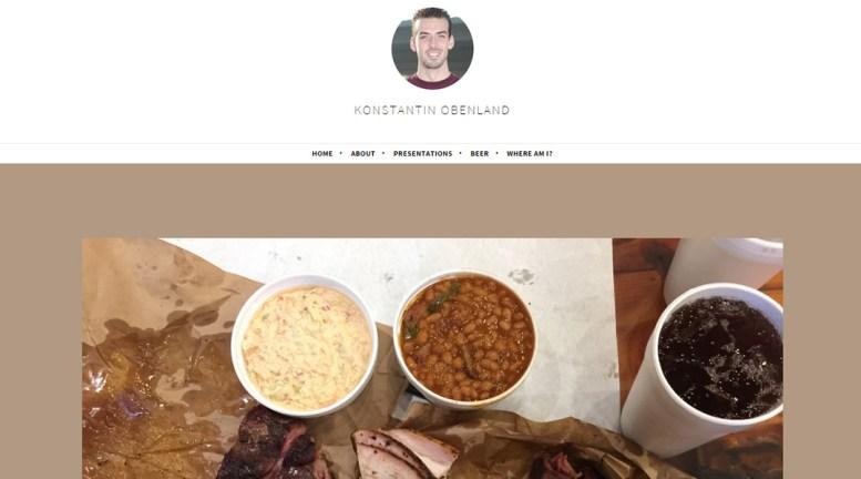 screen cap of Konstantin Obenland's website