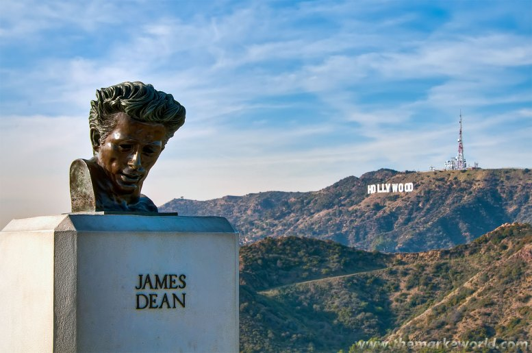 James Dean sculpture at Griffith Observatory