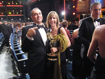 Phil Dagort in a tuxedo at the Emmy Awards