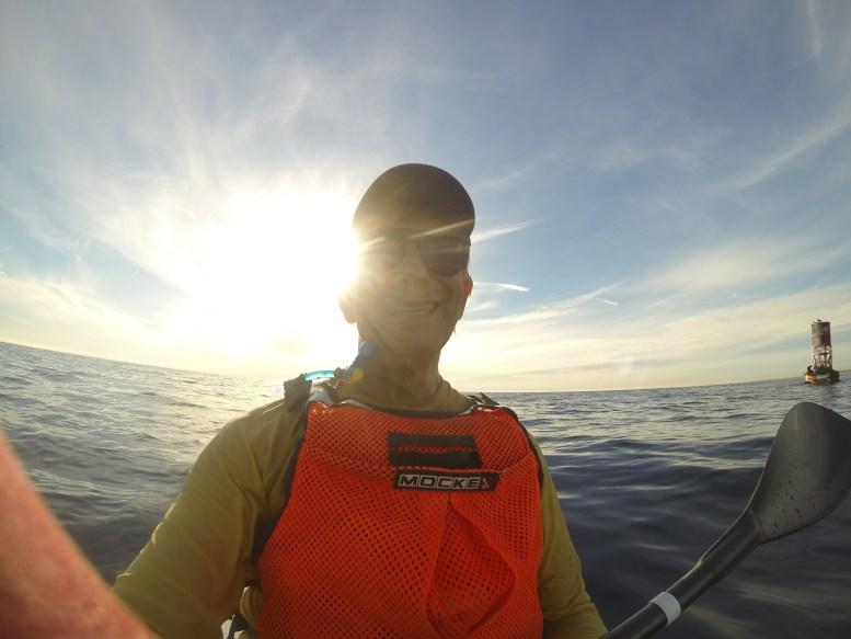 Glenn Zucman in a Fenn Surf Ski in the Pacific Ocean at Newport Beach, California