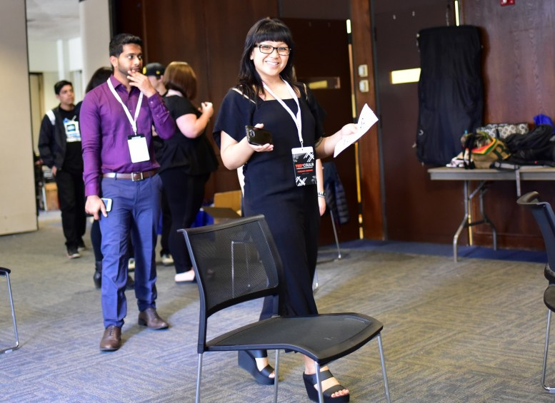 Abhishek Mb & Camille Raquel in the Green Room at TEDxCSULB