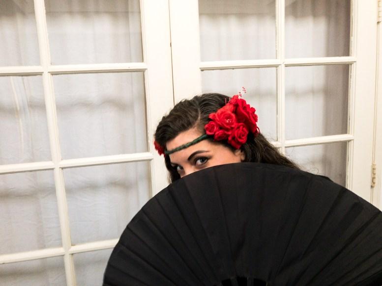 Darcey Leonard in a black dress
