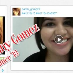 Sarahy Gomez, Summer '13